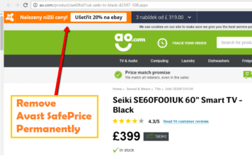 Avast SafePrice Remove