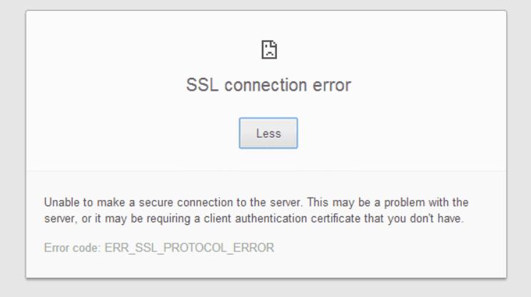 SSL Connection Error Fix