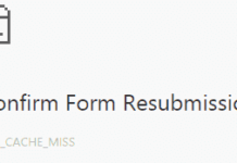 confirm form resubmission