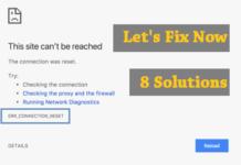 ERR_CONNECTION_RESET Fix