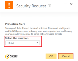 antivirus disable timer
