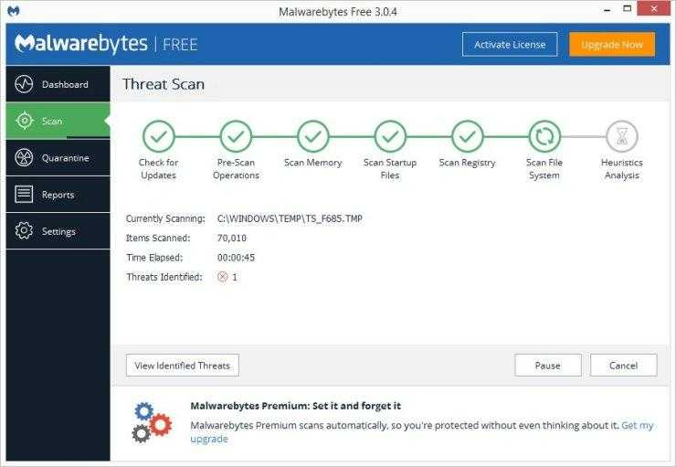 malwarebytes ERR_CONNECTION_RESET