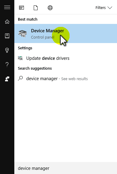 Open Device Manager to Update Realtek Audio Drivers