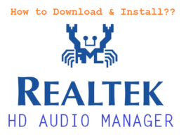 Realtek HD Audio Manager for Windows 10