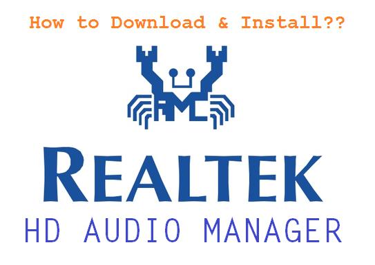 Realtek HD Audio Manager for Windows 10