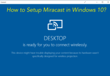How to Setup Miracast in Windows 10