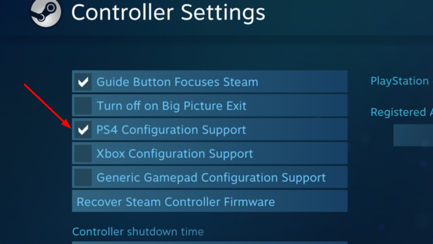 PS4 Configuration Support in Steam
