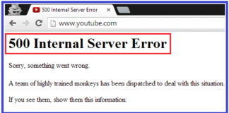 Fix HTTP Error 500