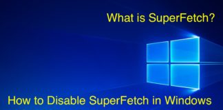 How to Disable or Enable SuperFetch in Windows 10?