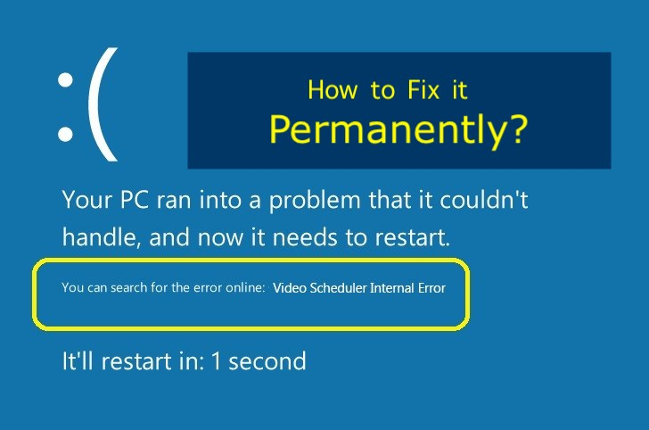 How to fix Video Scheduler Internal Error