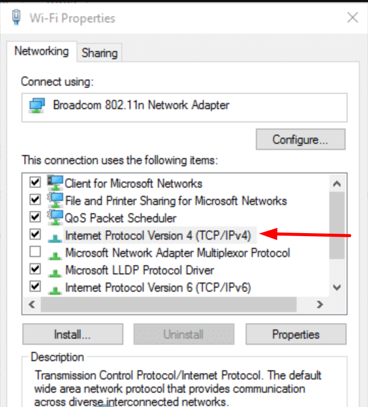 Configure Wi-Fi Properties to Solve DNS Not Responding error