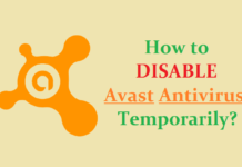 How to Disable Avast Antivirus Temporarily?