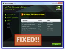 NVIDIA Installer Failed Fix