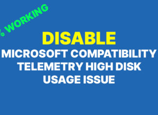 Fix Microsoft Compatibility High Disk Usage Issue