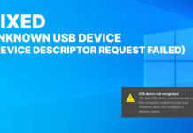 Unknown USB Device (Device Descriptor Request Failed) Fix