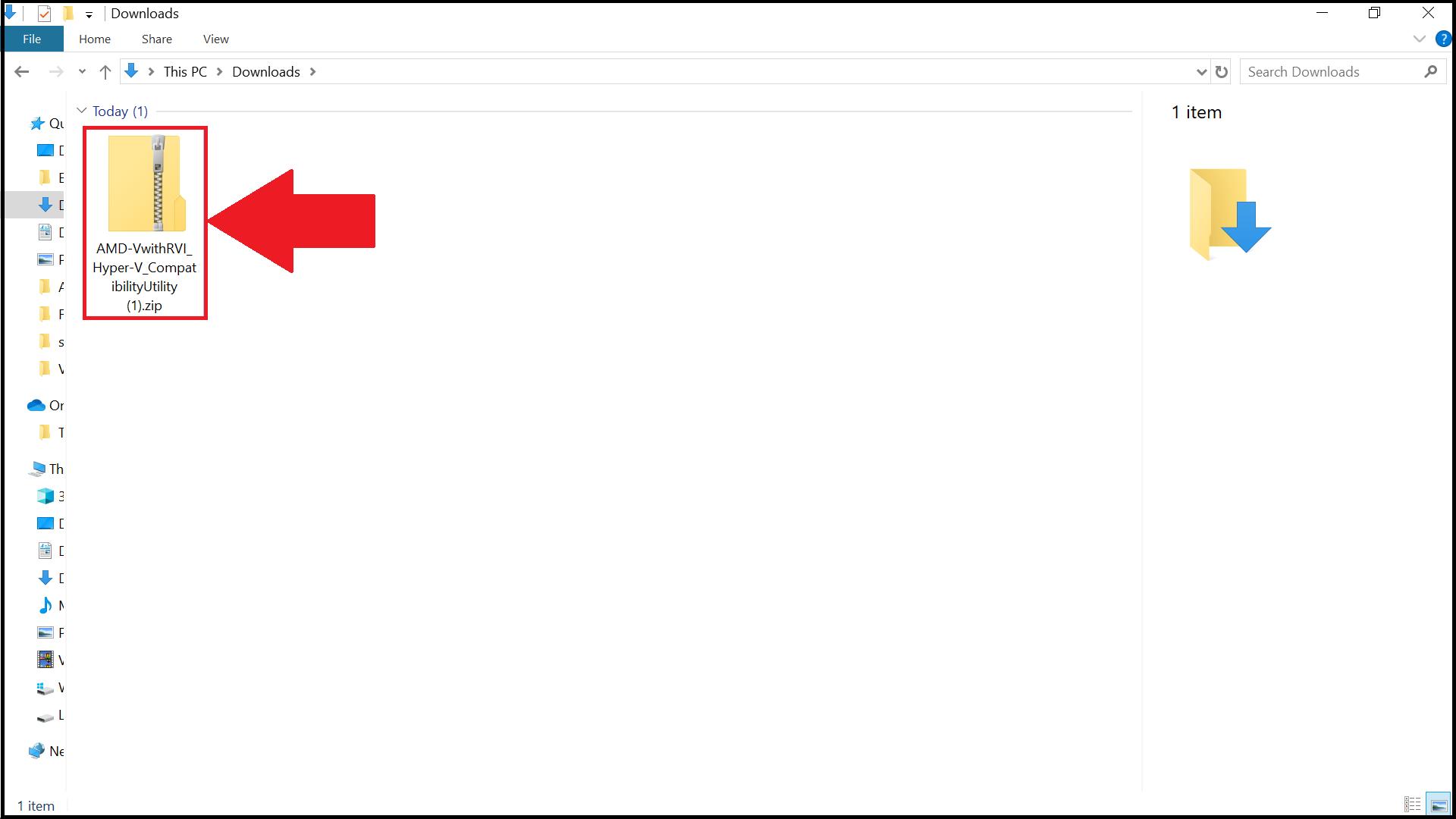 AMD-V Detection Utility Zip File