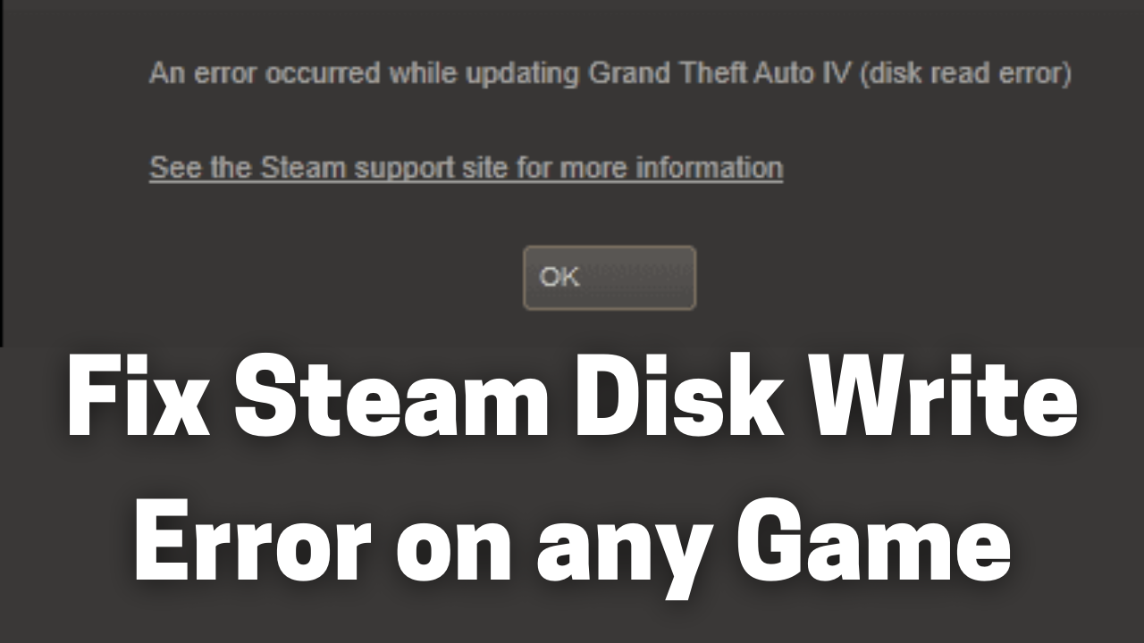 Fix Steam Disk Write Error on any Game