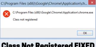 Fix Class Not Registered Error