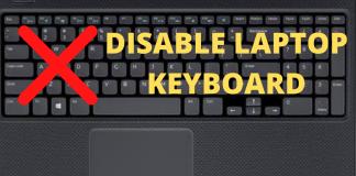Disable Laptop Keyboard