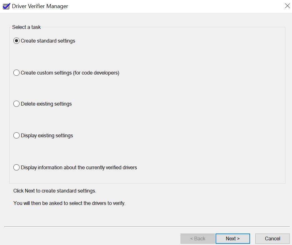 Device Verifier Manager Window