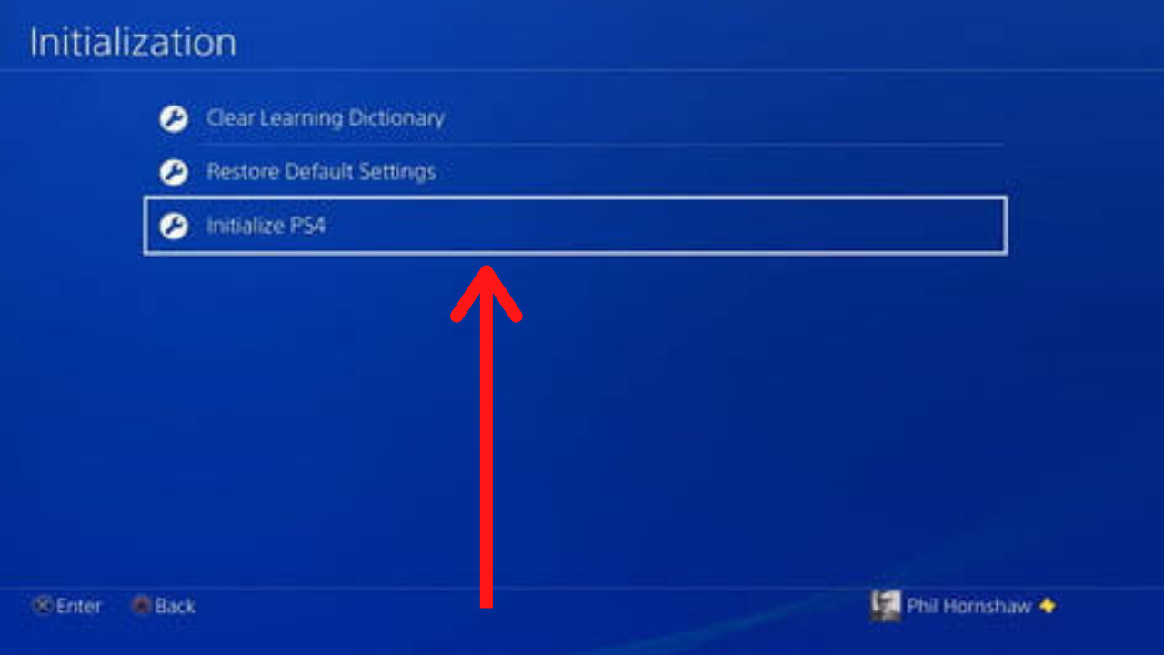 Initialize PS4 Option