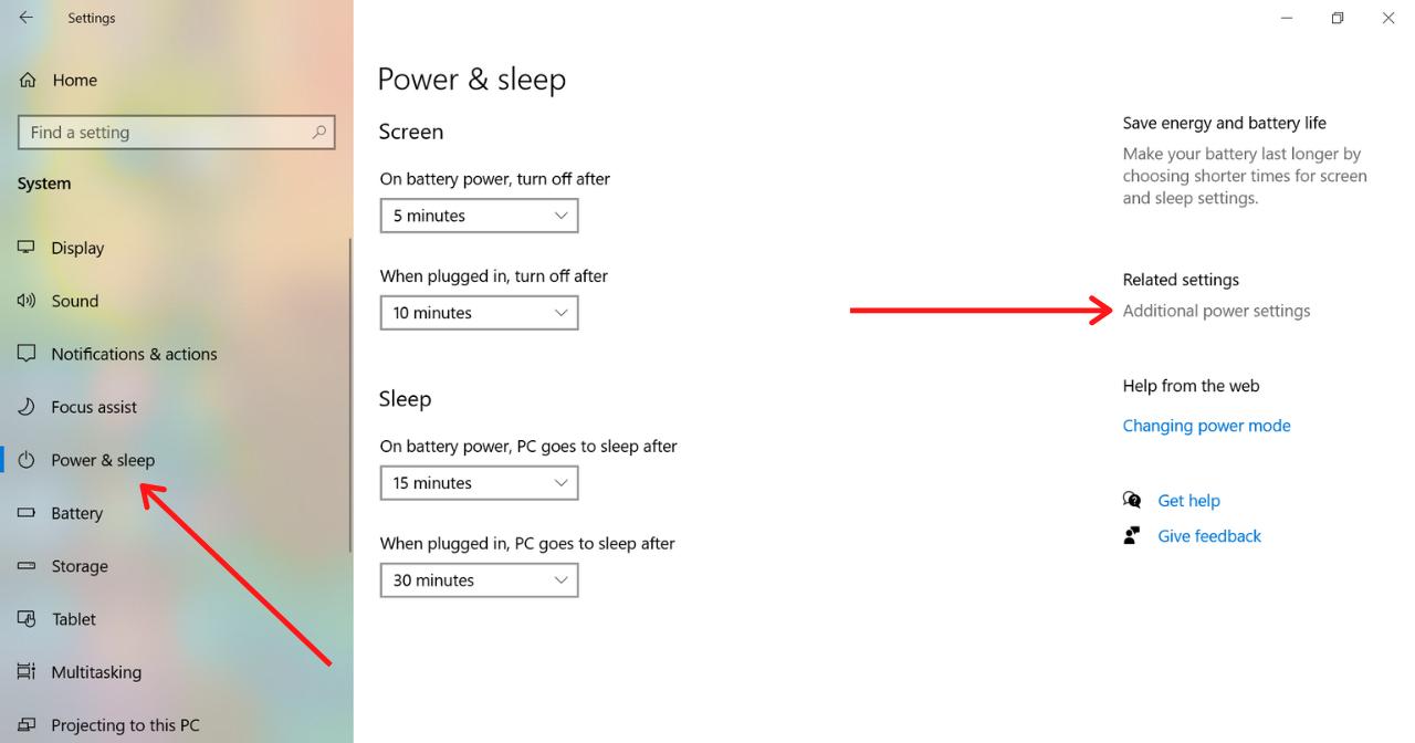 Power and Sleep Option