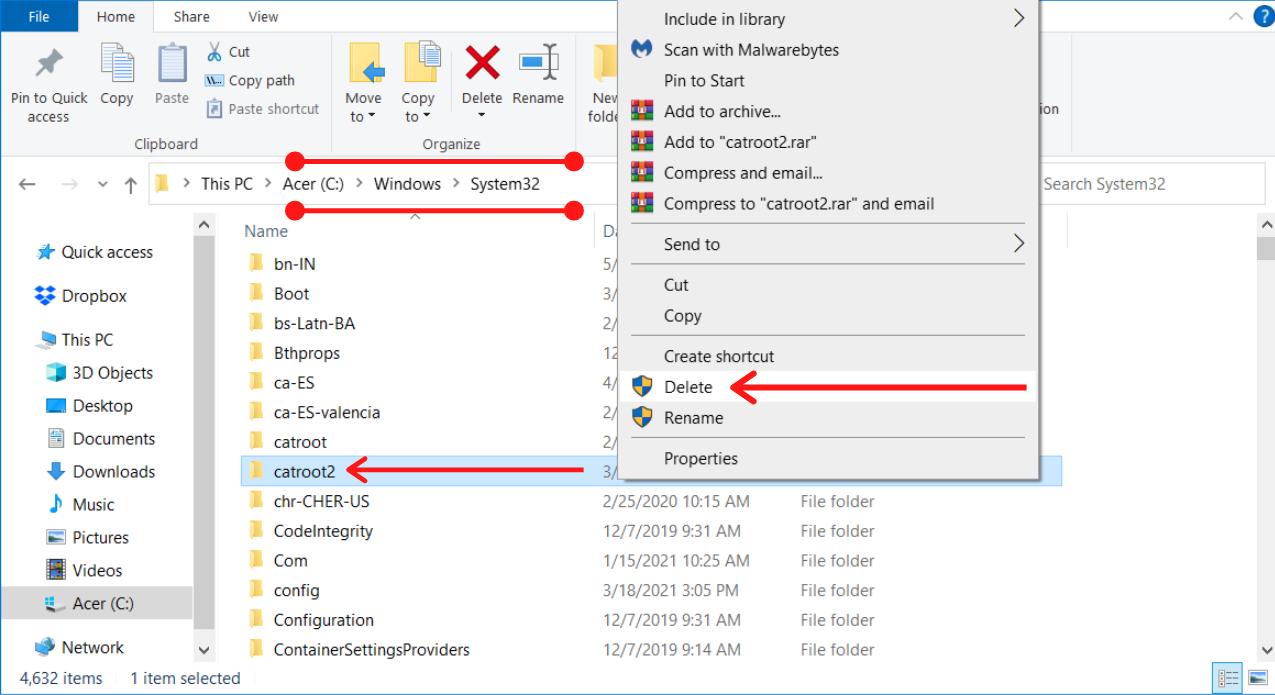 Delete the CatRoot2 Folder