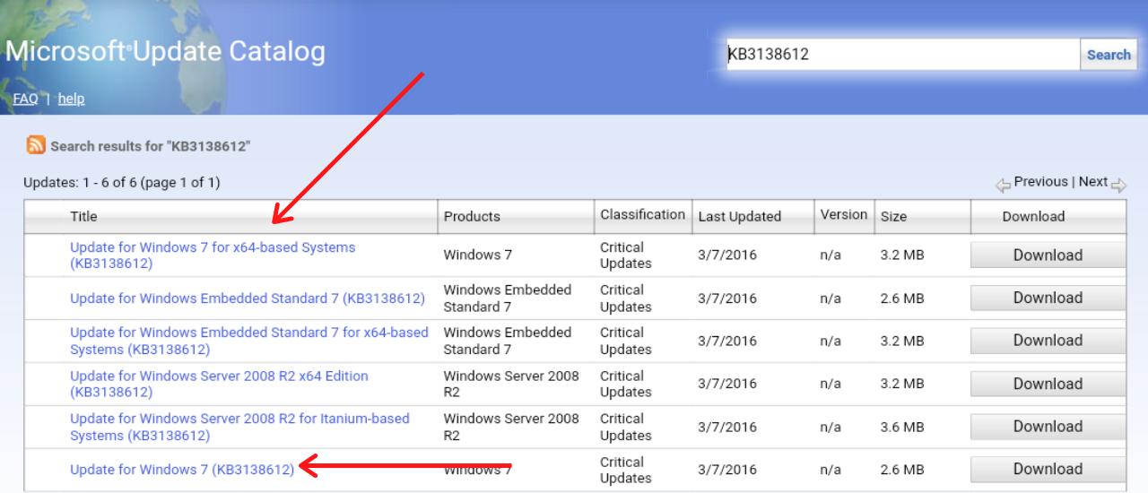 Microsoft Catalog Website