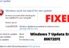 Windows 7 Update Error 80072EFE