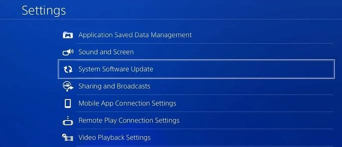 System Software Update Option
