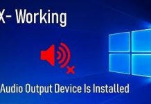 No Audio Device is Installed Error Fix