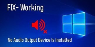 No Audio Device is Installed Error Fix