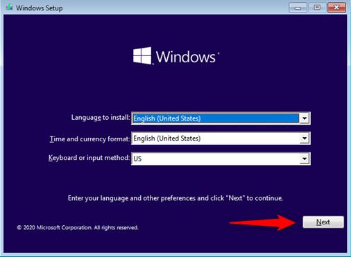 Windows Installation Wizard