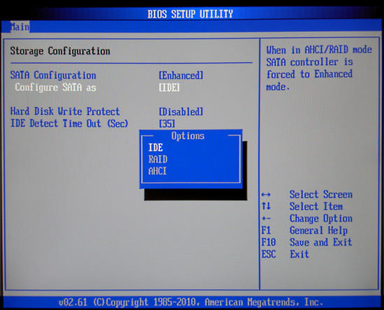 BIOS Settings on Windows 7