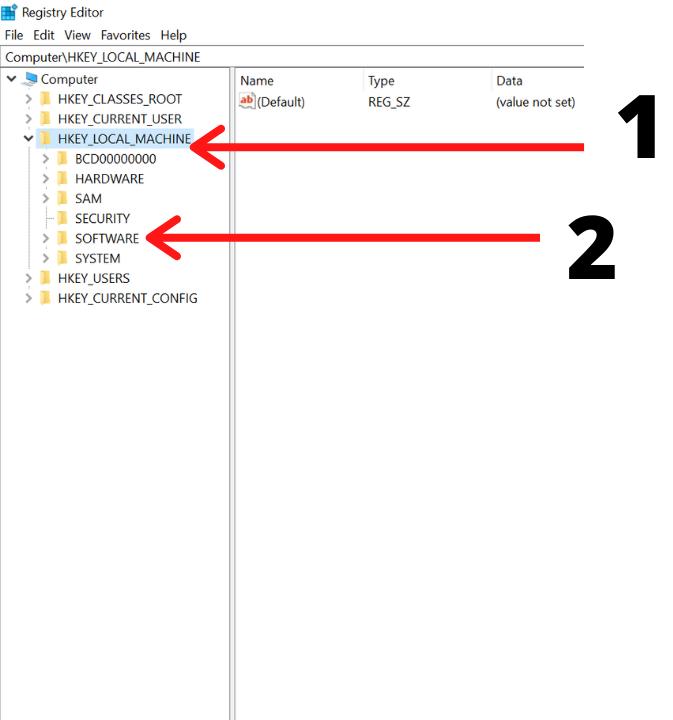 Windows 10 Registry