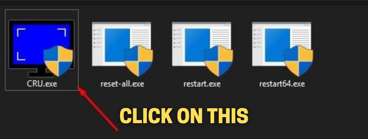 CRU.exe file to Overclock Monitor