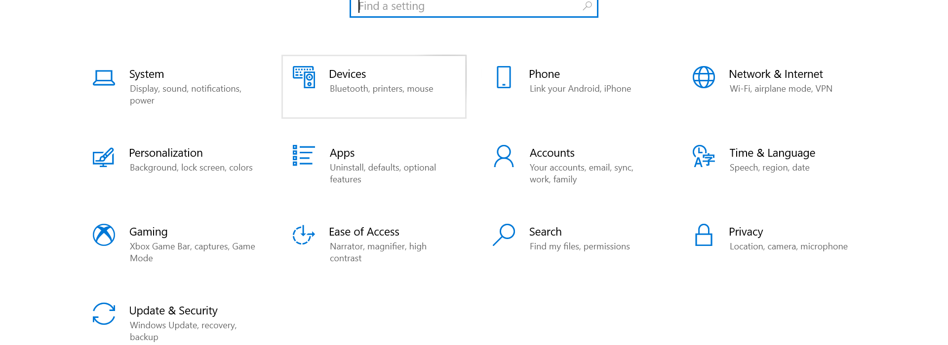 Devices option to fix Advanced Display Settings to Fix Second Monitor Not Detected