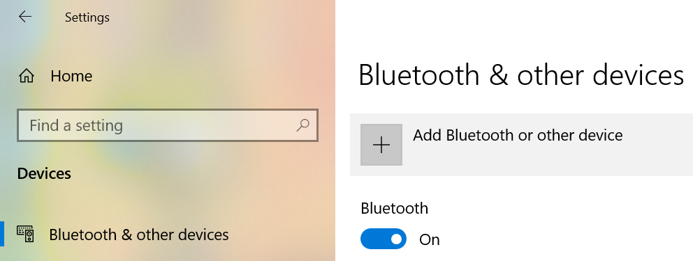Add Bluetooth or other devices option to fix Add Bluetooth or other devices